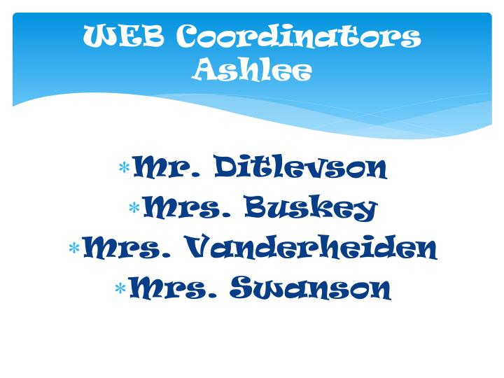 WEB Coordinators