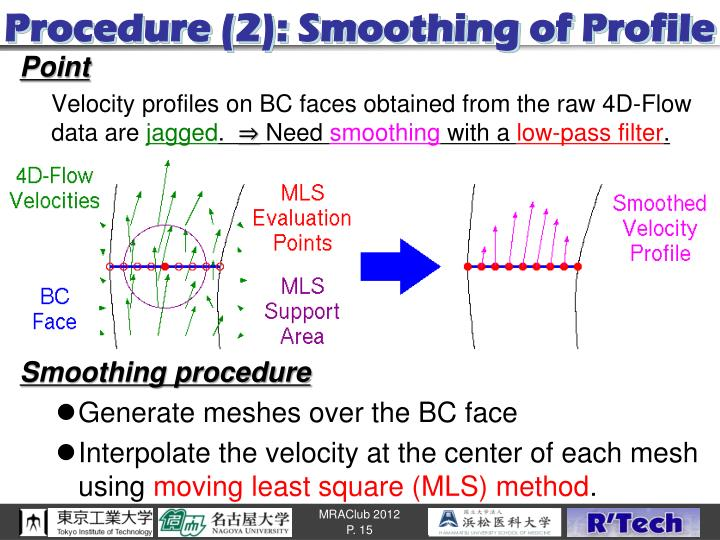 Procedure (2): Smoothing of Profile