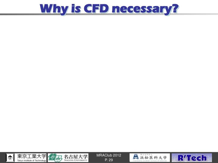 Why is CFD necessary?