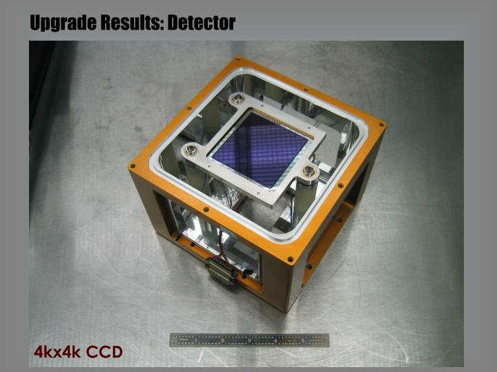 Upgrade Results: Detector