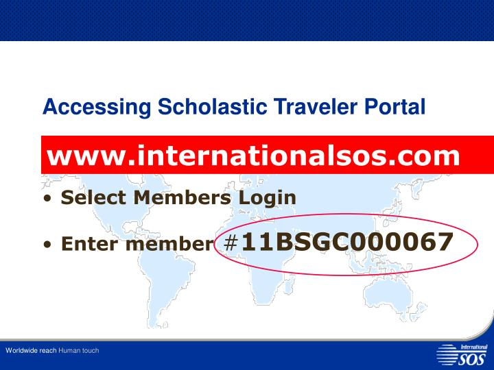 Accessing Scholastic Traveler Portal