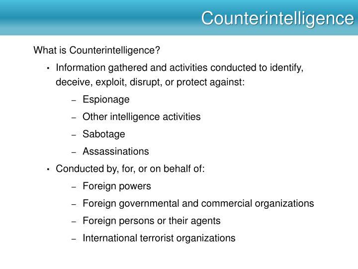 Counterintelligence