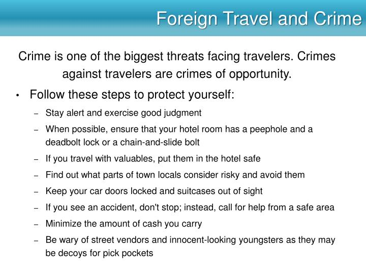 Foreign Travel and Crime