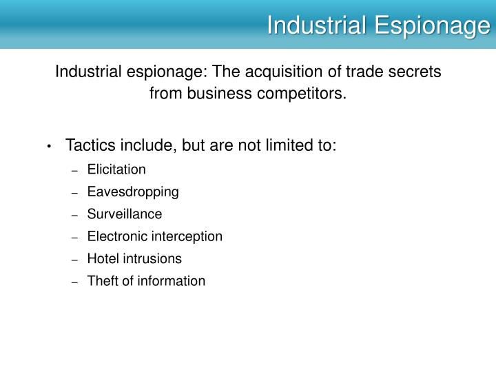 Industrial Espionage