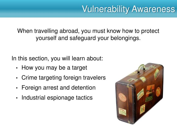 Vulnerability awareness
