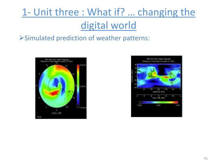 1- Unit three : What if? … changing the digital world