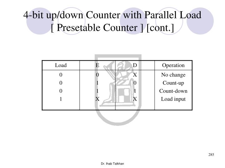 4-bit up/down Counter with Parallel Load