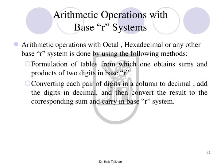 Arithmetic Operations with