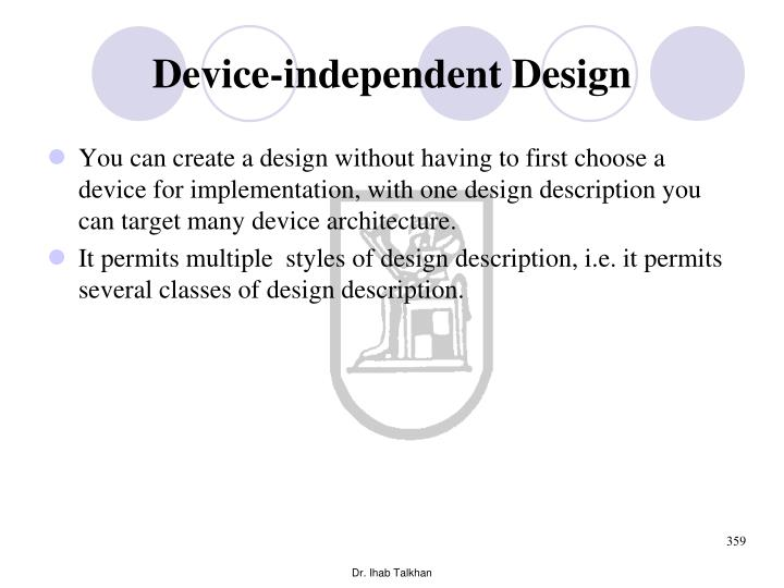 Device-independent Design