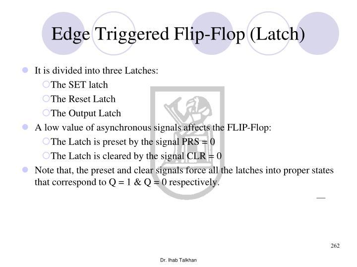 Edge Triggered Flip-Flop (Latch)