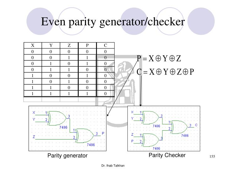 Even parity generator/checker