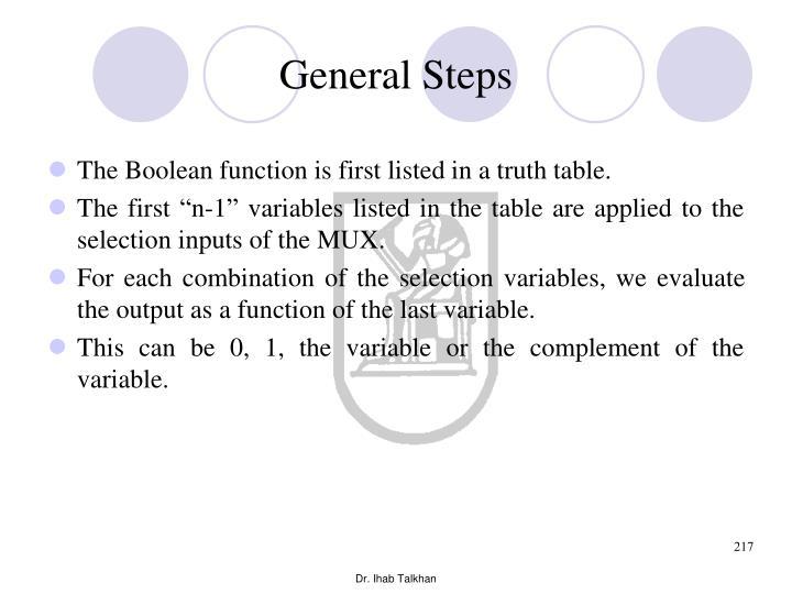 General Steps