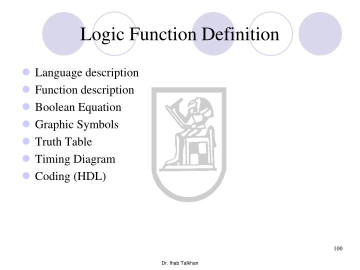 Logic Function Definition