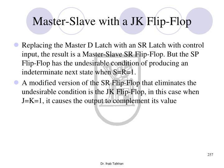 Master-Slave with a JK Flip-Flop