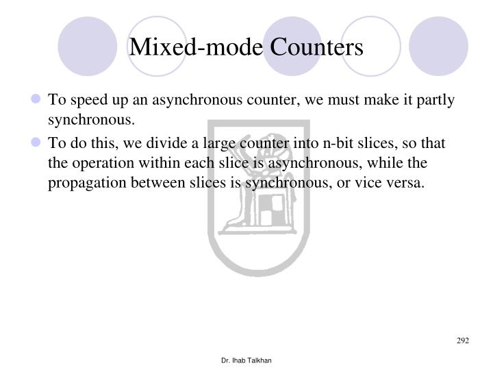 Mixed-mode Counters