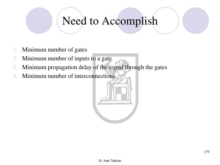 Need to Accomplish