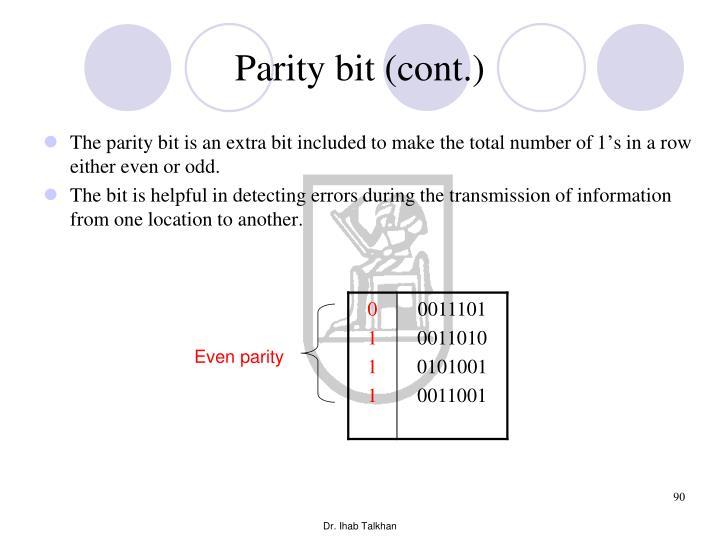 Parity bit (cont.)