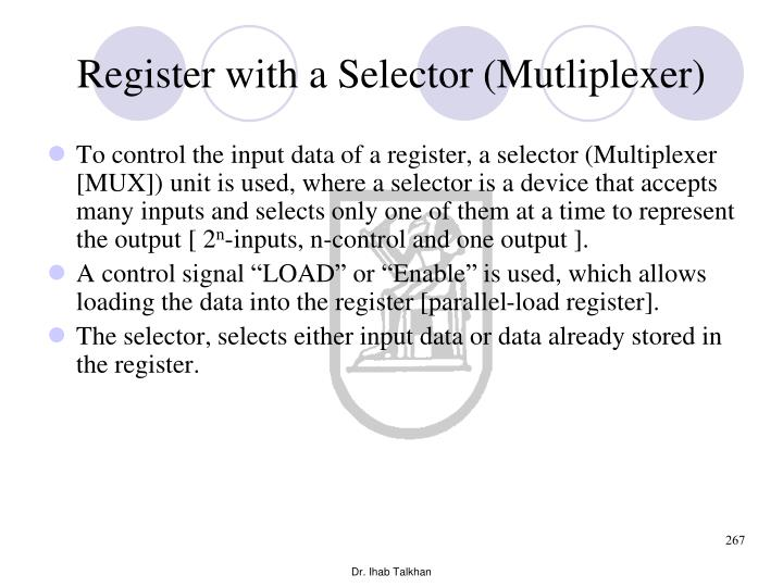 Register with a Selector (Mutliplexer)