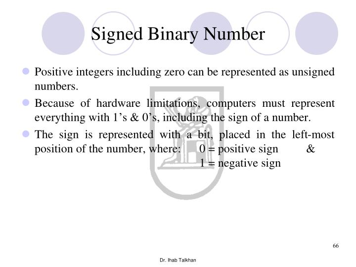 Signed Binary Number