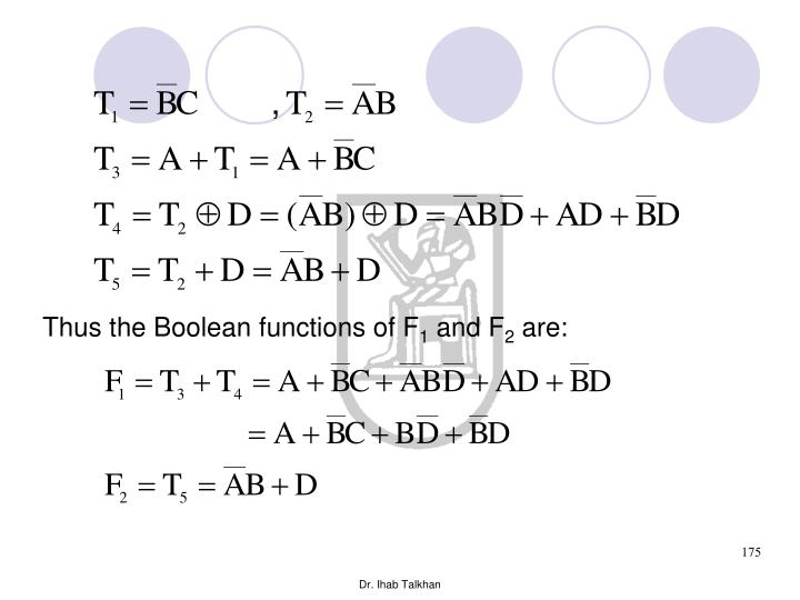 Thus the Boolean functions of F
