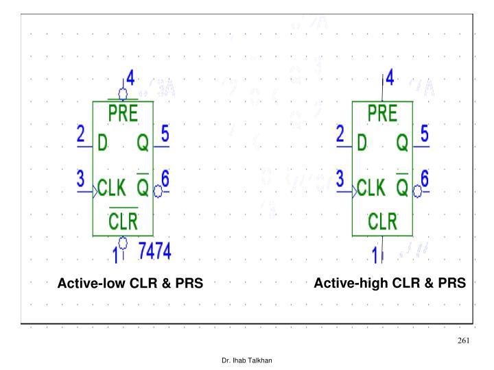 Active-high CLR & PRS