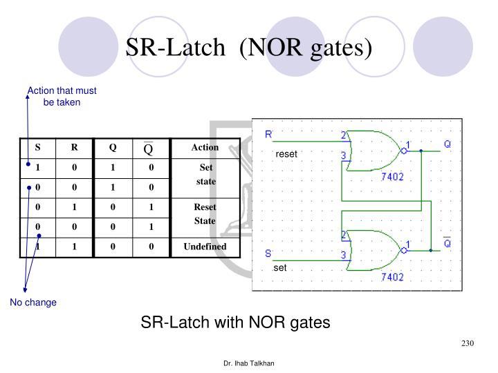 SR-Latch  (NOR gates)