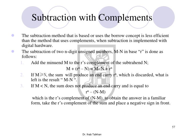 Subtraction with Complements