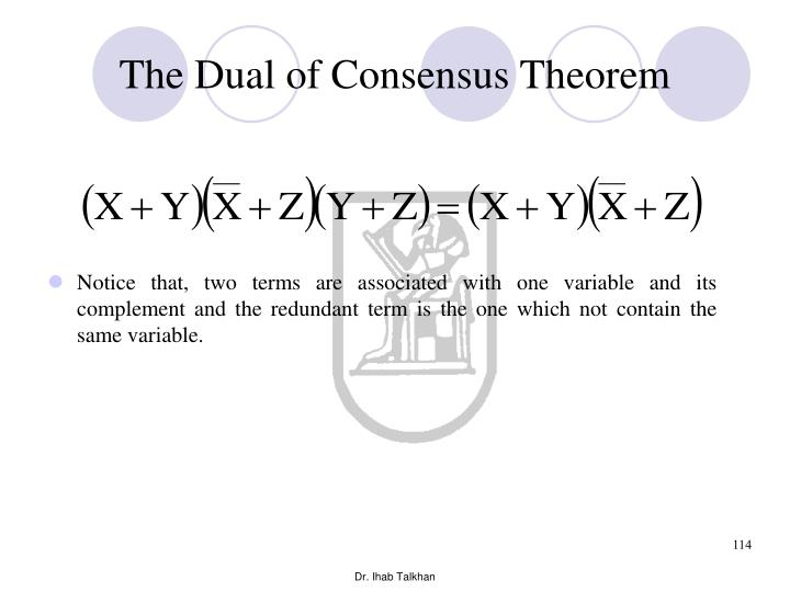 The Dual of Consensus Theorem