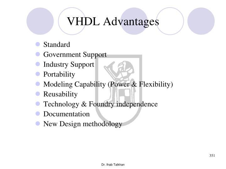 VHDL Advantages