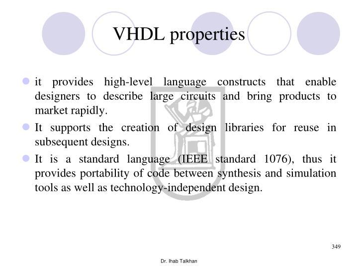 VHDL properties