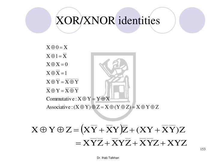XOR/XNOR identities