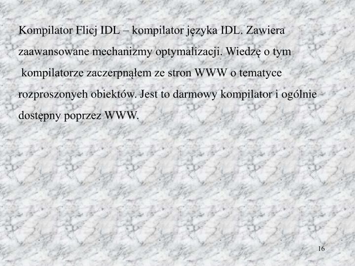 Kompilator Flicj IDL