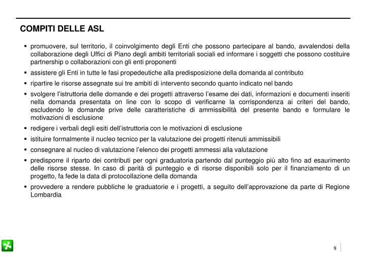 COMPITI DELLE ASL