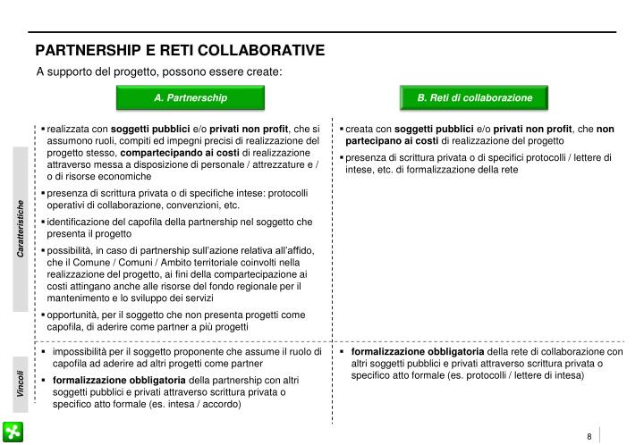 PARTNERSHIP E RETI COLLABORATIVE