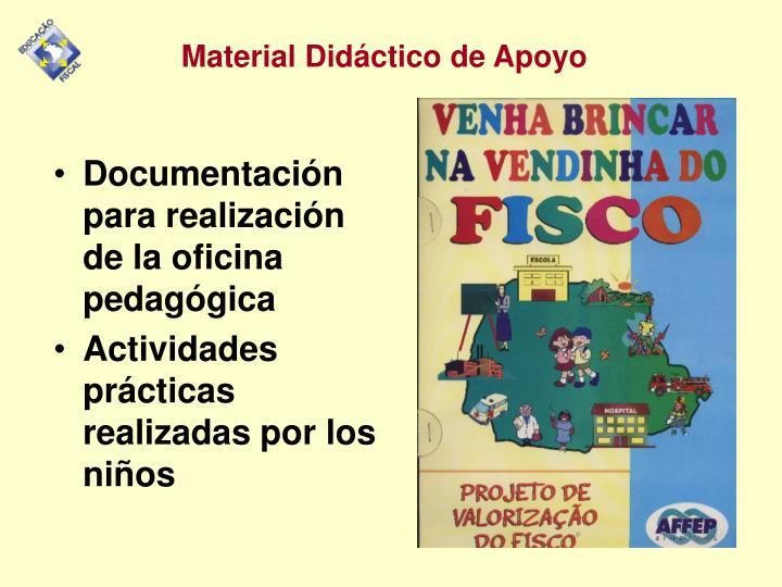 Documentación para realización de la oficina  pedagógica