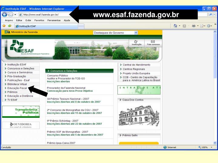 www.esaf.fazenda.gov.br