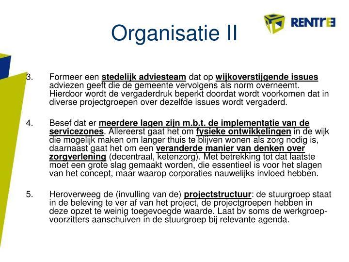 Organisatie II