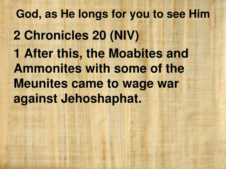 2 Chronicles 20 (NIV)