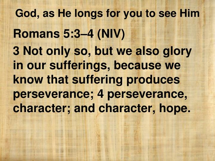 Romans 5:3–4 (NIV)