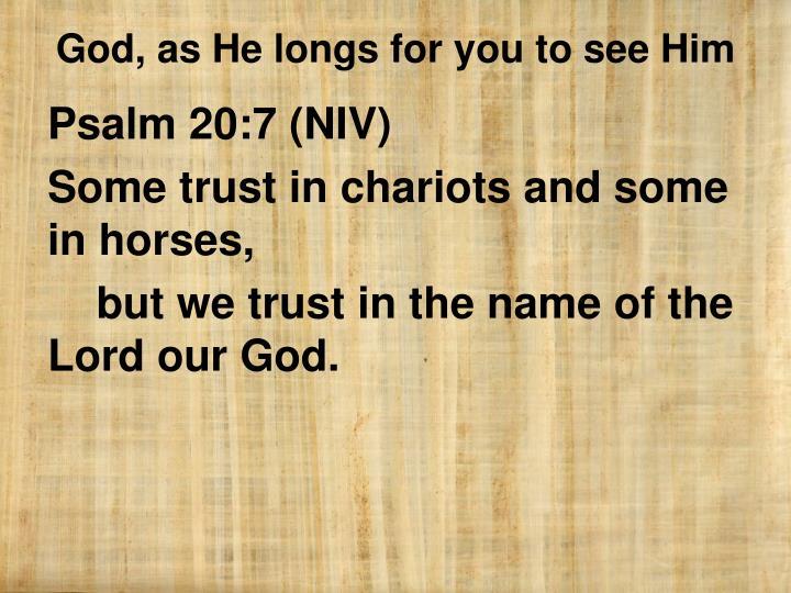 Psalm 20:7 (NIV)