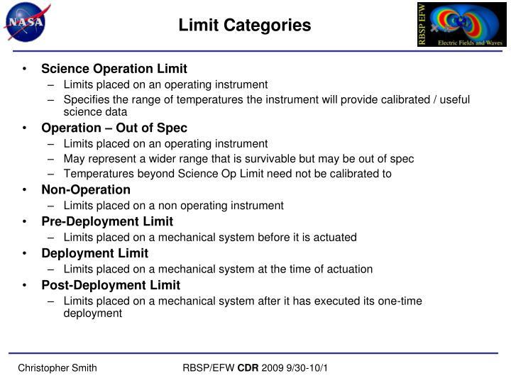 Limit Categories
