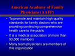 american academy of family physicians aafp