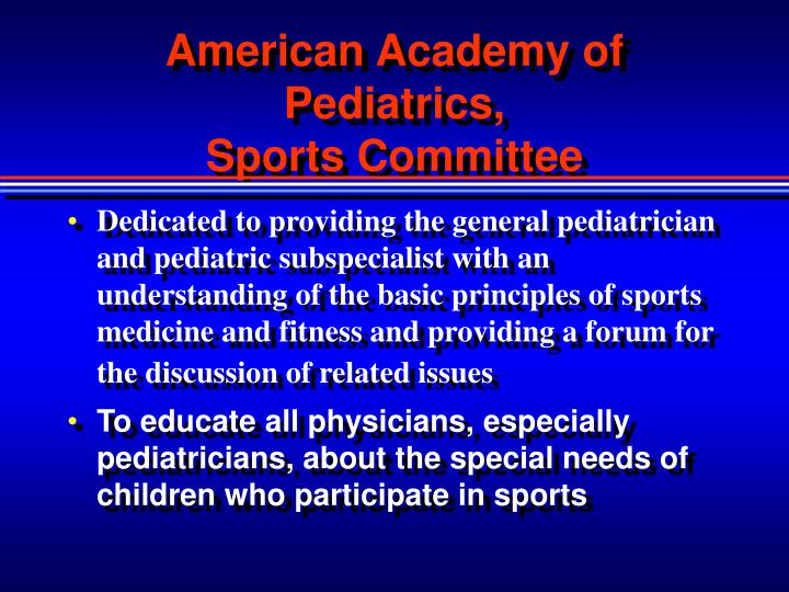 American Academy of Pediatrics,
