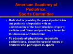 american academy of pediatrics sports committee