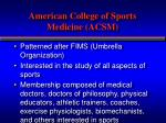 american college of sports medicine acsm