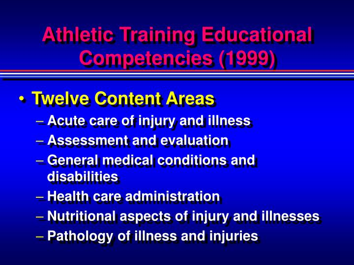 Athletic Training Educational Competencies (1999)
