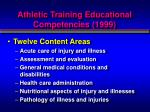 athletic training educational competencies 1999