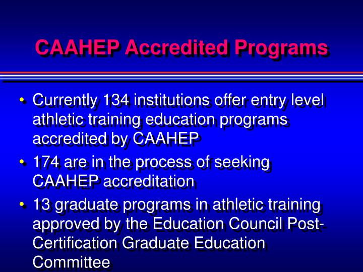 CAAHEP Accredited Programs