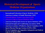 historical development of sports medicine organizations2