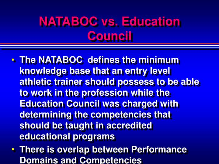 NATABOC vs. Education Council